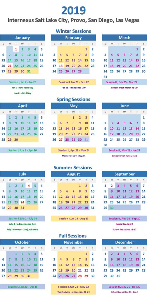 Internexus 2019 Calendar